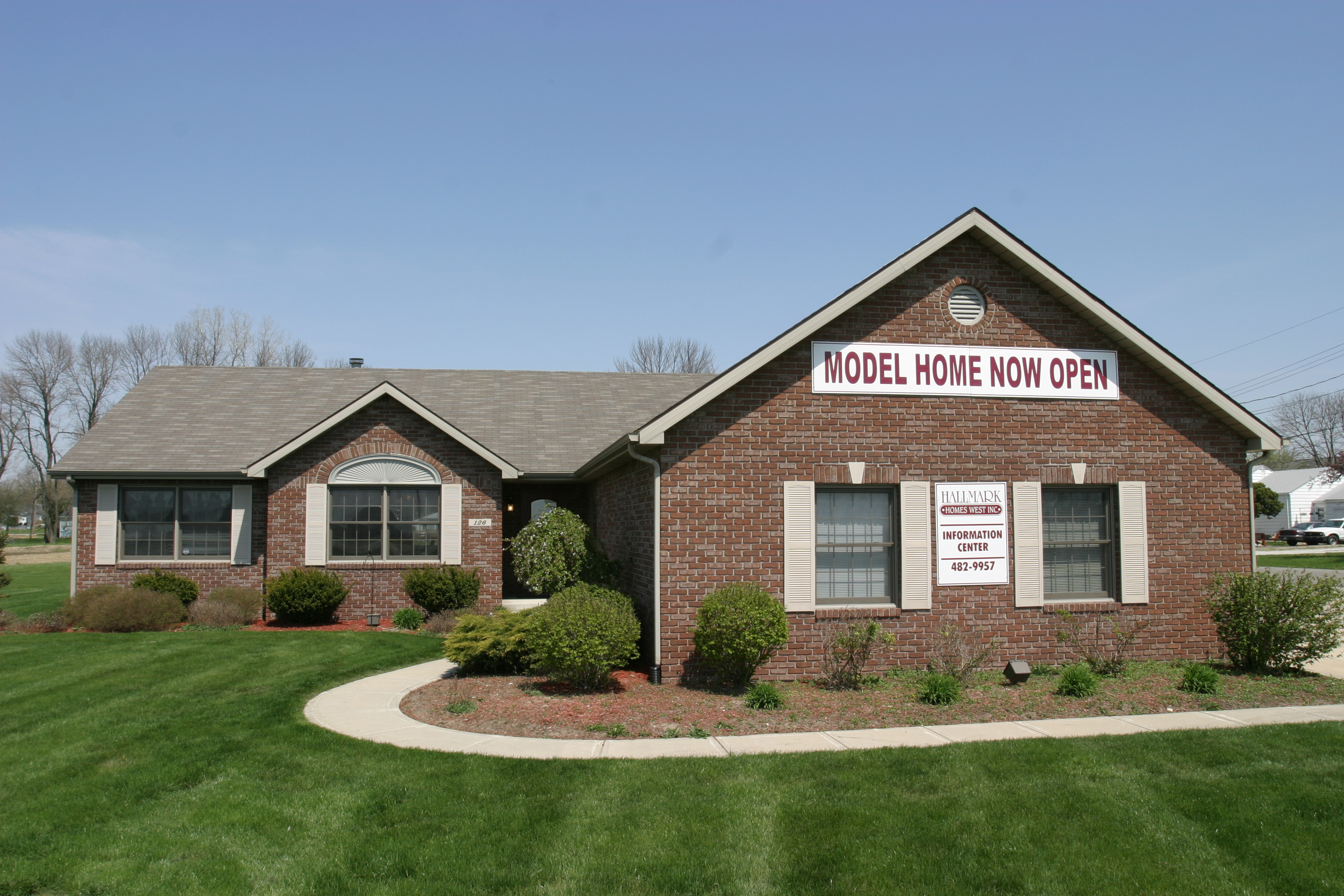 Hallmark homes model home locations hallmark homes for Indiana home builders on your lot