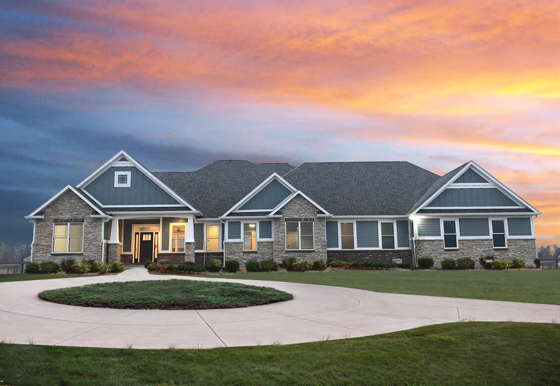 Exterior3 hallmark homes indiana 39 s leading on your for Indiana home builders on your lot